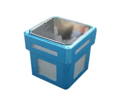 Урна с металлической емкостью 800х400х400 (серая/синяя)